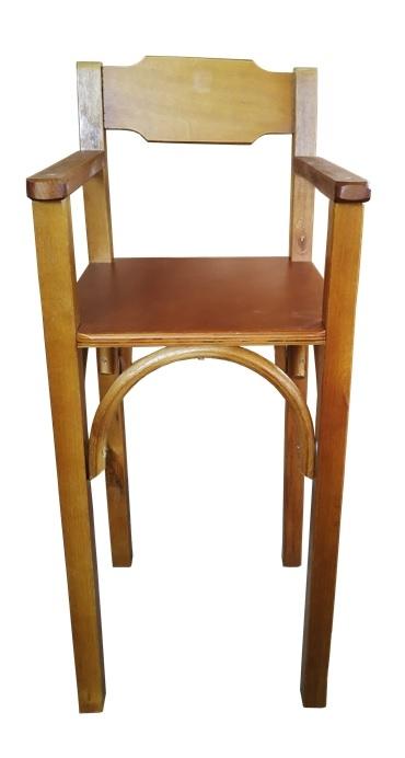Cadeirao de Bebe de Madeira Para Bar Imbuia CBS