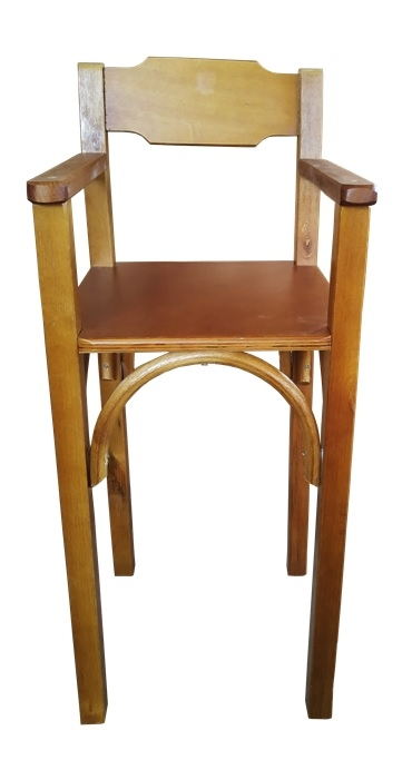 Cadeirao de Bebe de Madeira Para Restaurante Mel CBS