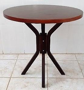 Mesa para Bar e Restaurante de Madeira tampo redondo 70cm Imbuia MFAR700