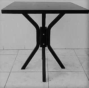 Mesa para Salao de Festa 80x80 Preta MFAQ800