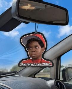 Aromatizante personalizado para carro - Arnold Que papo é esse Willis?