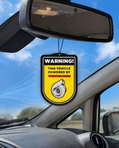 Aromatizante personalizado para carro -  Aviso Turbo