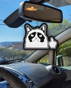 Aromatizante personalizado para carro - Bad Cat