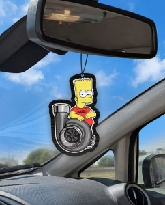 Aromatizante personalizado para carro - Bart Big Turbo