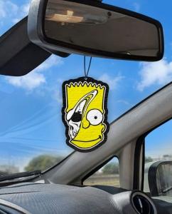 Aromatizante personalizado para carro - Bart Caveira