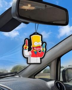 Aromatizante personalizado para carro - Bart Covid Supreme