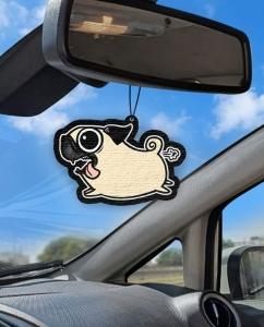 Aromatizante personalizado para carro - Cachorro Correndo Pug