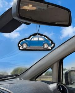 Aromatizante personalizado para carro - Fusca Azul
