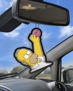Aromatizante personalizado para carro -  Homer Pendurado