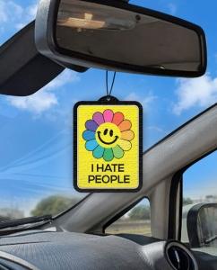 Aromatizante personalizado para carro - I Hate People