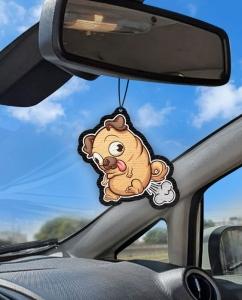 Aromatizante personalizado para carro - Pug Puf