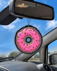 Aromatizante personalizado para carro - Rosquinha Simpsons
