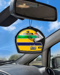 Aromatizante personalizado para carro - Senna Capacete