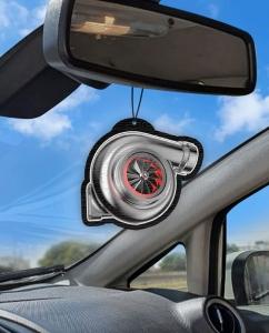 Aromatizante personalizado para carro - Turbo Vermelho