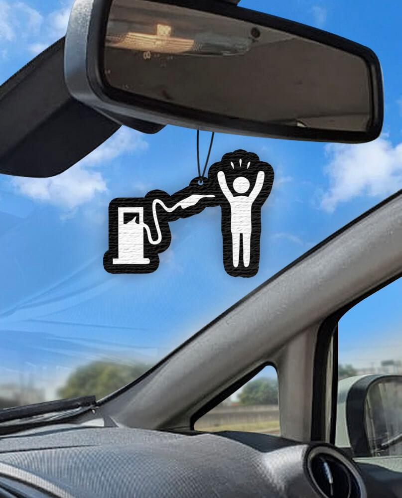Aromatizante personalizado para carro - Assalto Preço Combustível  - Aromatizacar