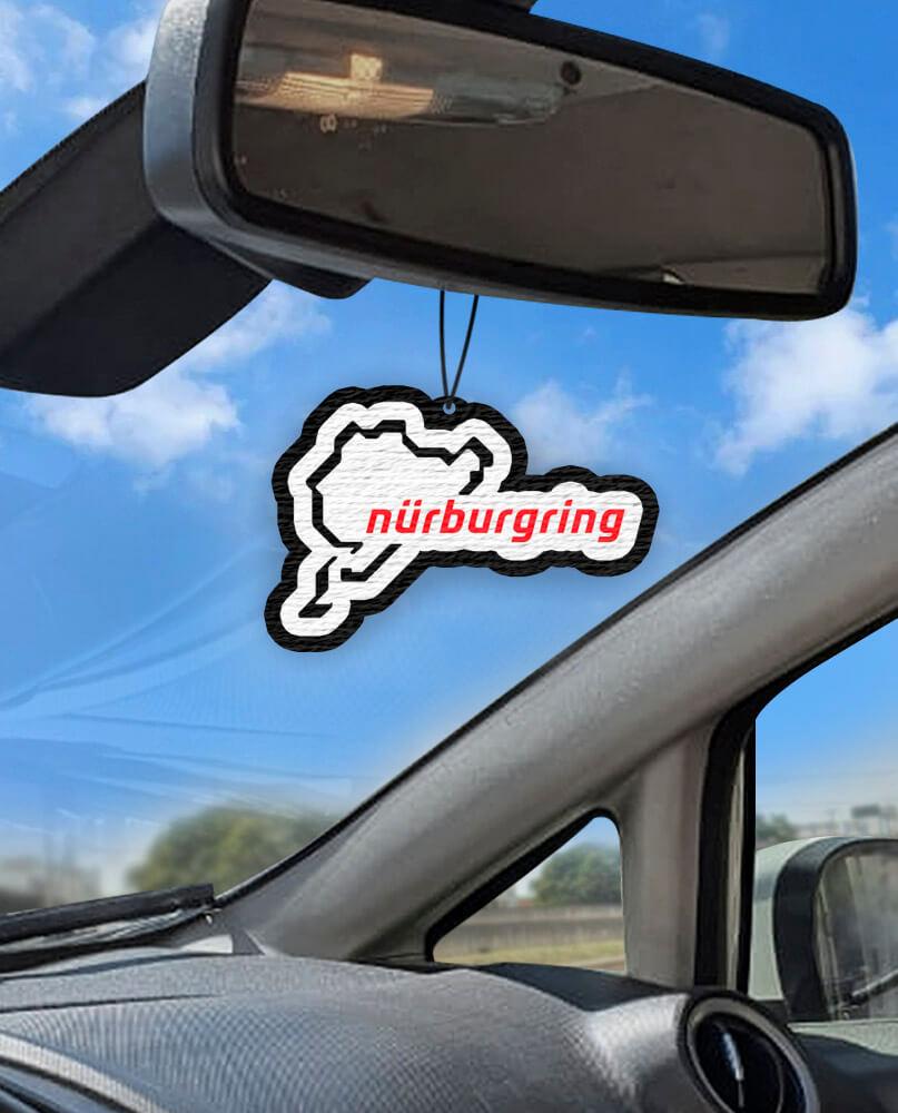 Aromatizante personalizado para carro - Autódromo Nurburgring Lap Time GTR