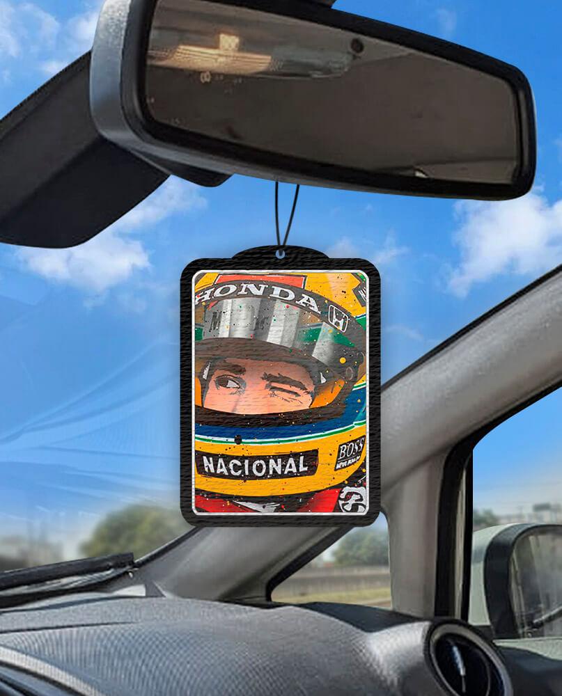 Aromatizante personalizado para carro - Ayrton Senna Foto
