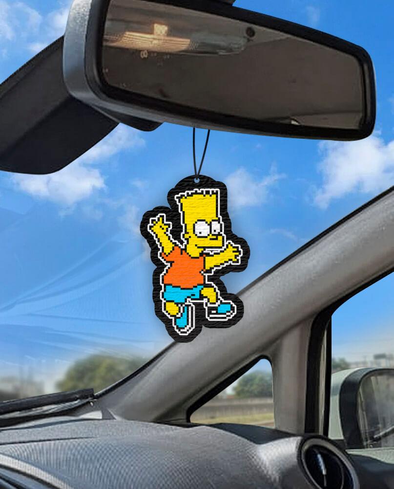 Aromatizante personalizado para carro - Bart Pixel