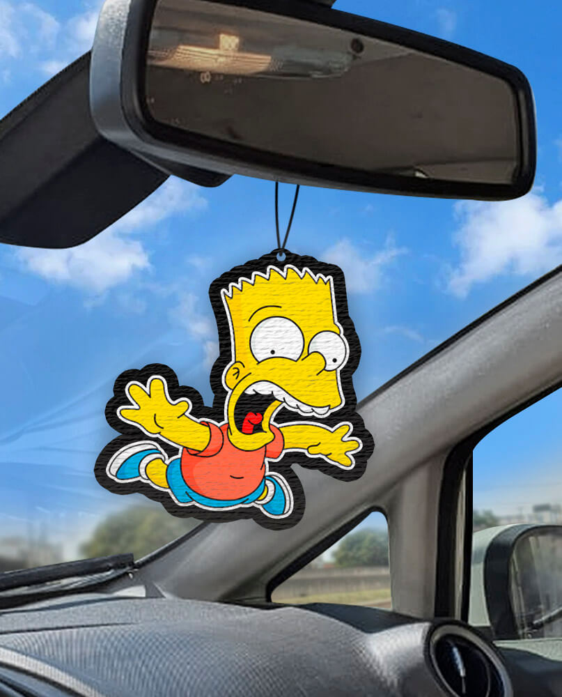 Aromatizante personalizado para carro - Bart Simpsons Caindo