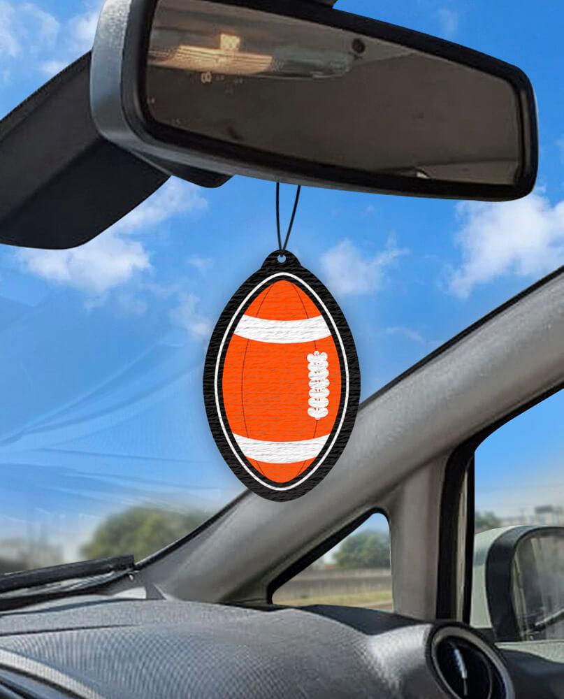 Aromatizante personalizado para carro - Bola de Futebol Americano  - Aromatizacar