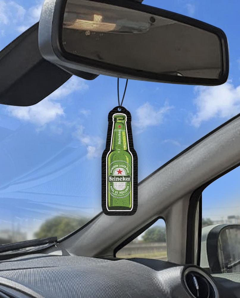 Aromatizante personalizado para carro  - Cerveja Heineken