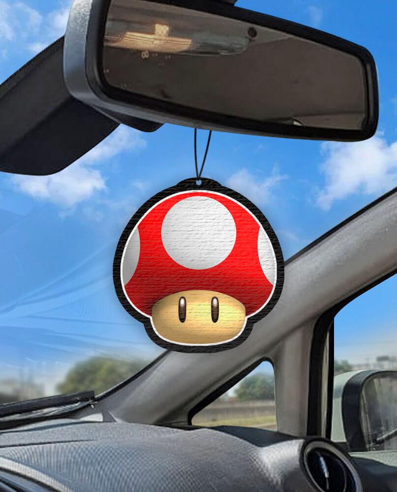 Aromatizante personalizado para carro - Cogumelo do Mario  - Aromatizacar