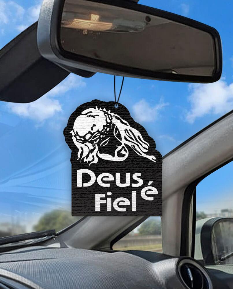 Aromatizante personalizado para carro - Deus é Fiel