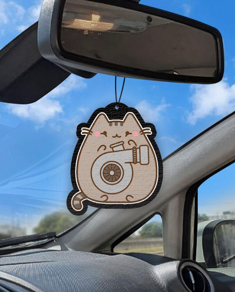 Aromatizante personalizado para carro - Gato Turbo