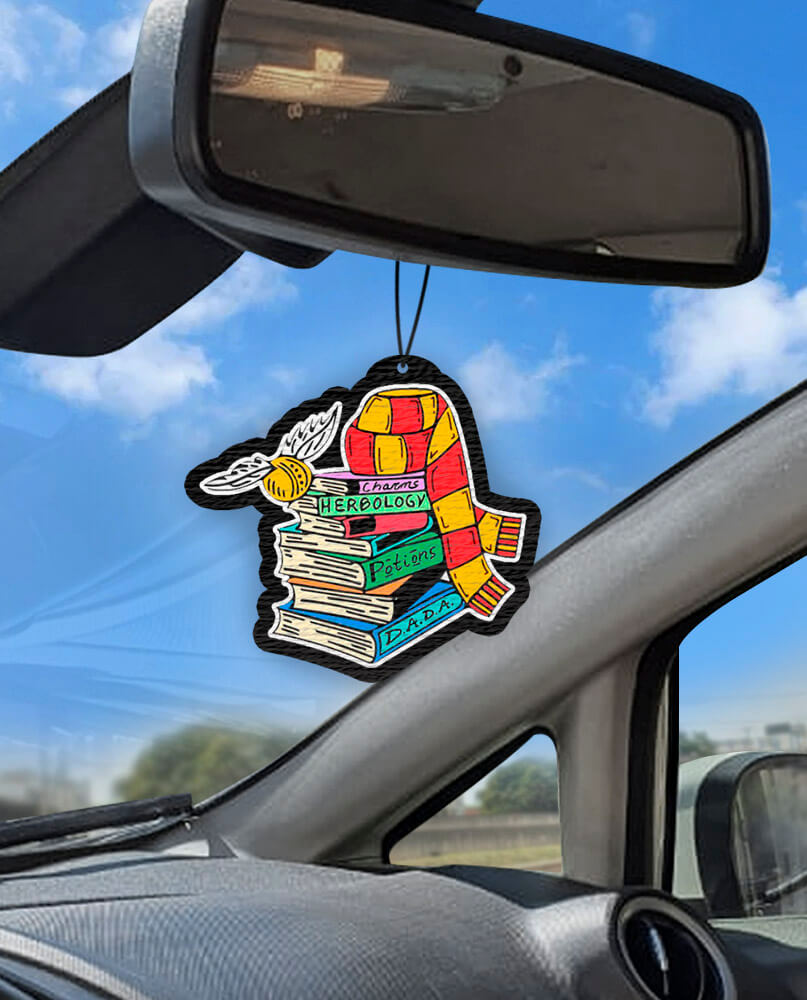 Aromatizante personalizado para carro - Harry Potter Books  - Aromatizacar