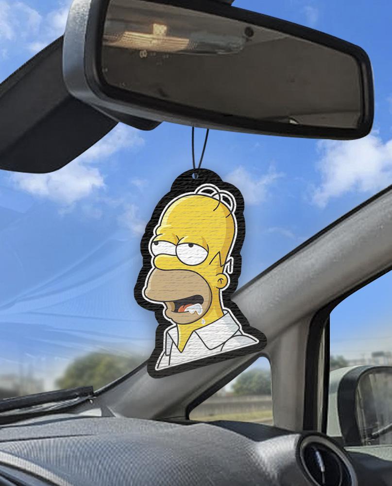 Aromatizante personalizado para carro -  Homer Babão
