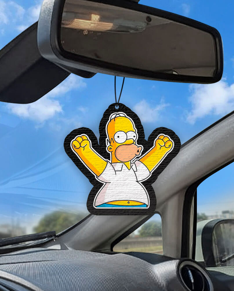 Aromatizante personalizado para carro - Homer Simpson