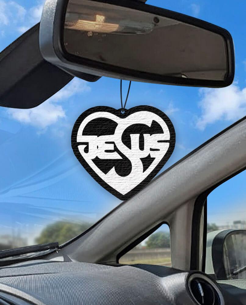 Aromatizante personalizado para carro - Jesus