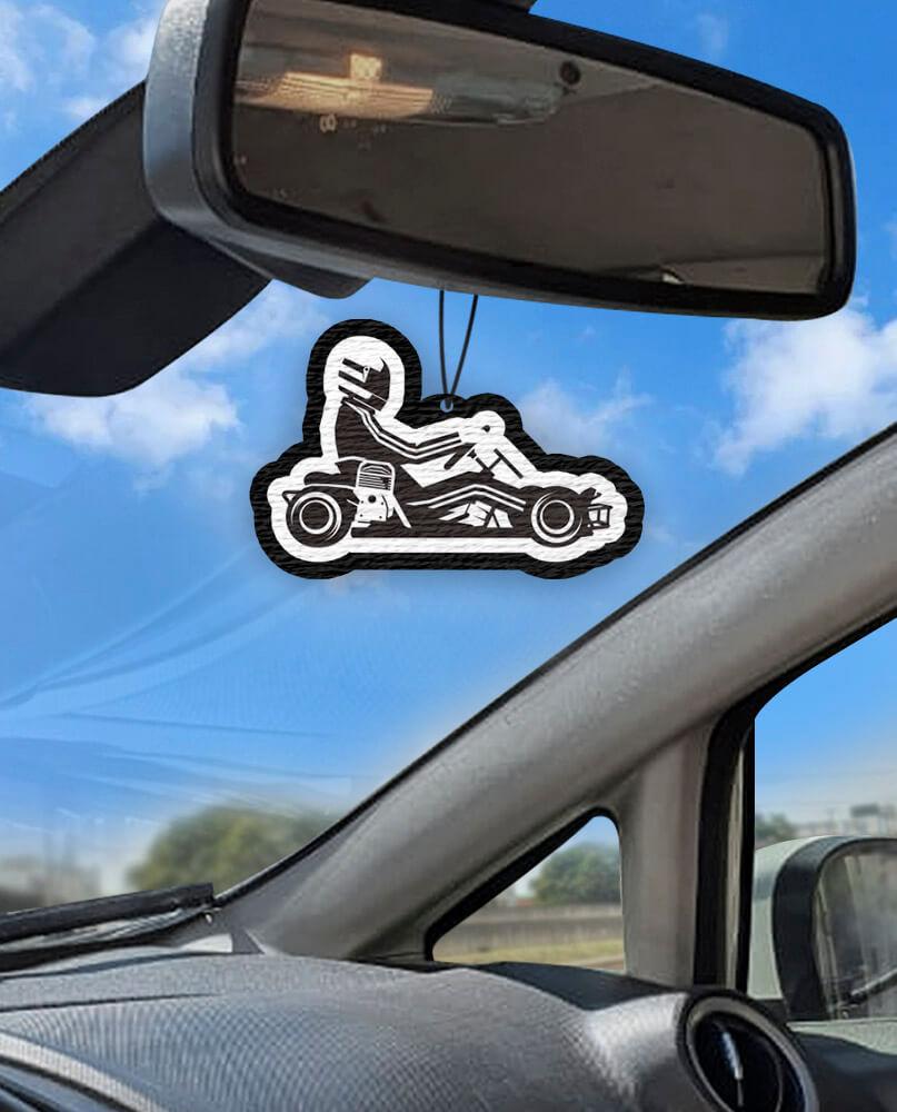 Aromatizante personalizado para carro - kart  - Aromatizacar
