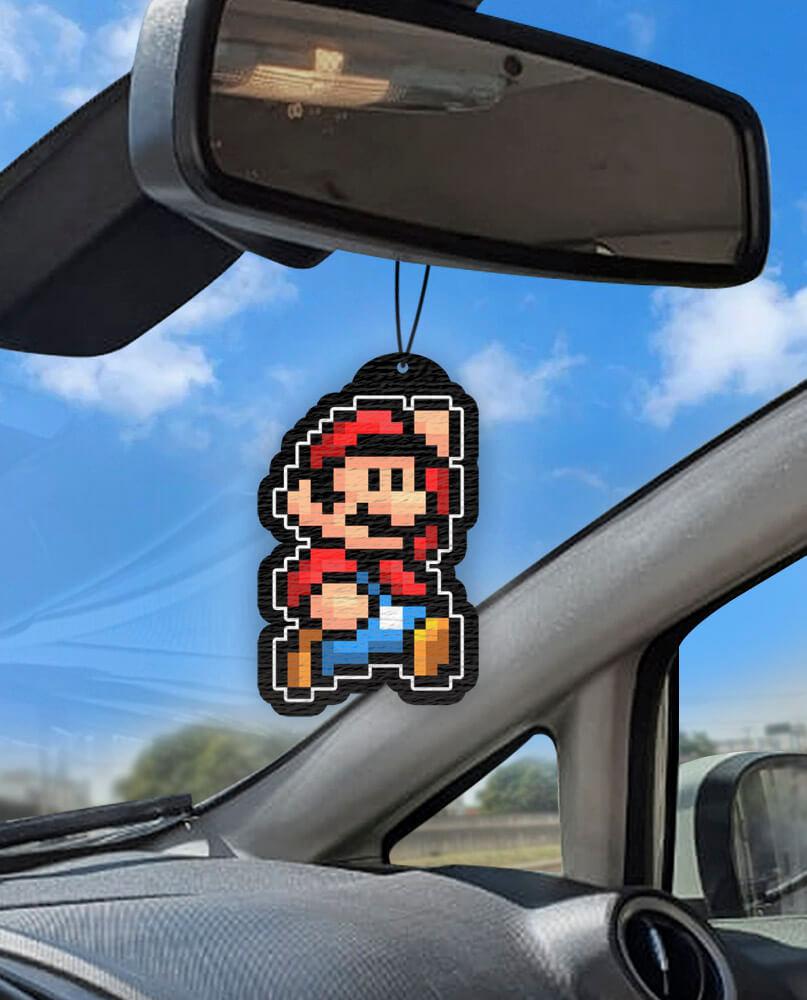 Aromatizante personalizado para carro - Mario Pixel
