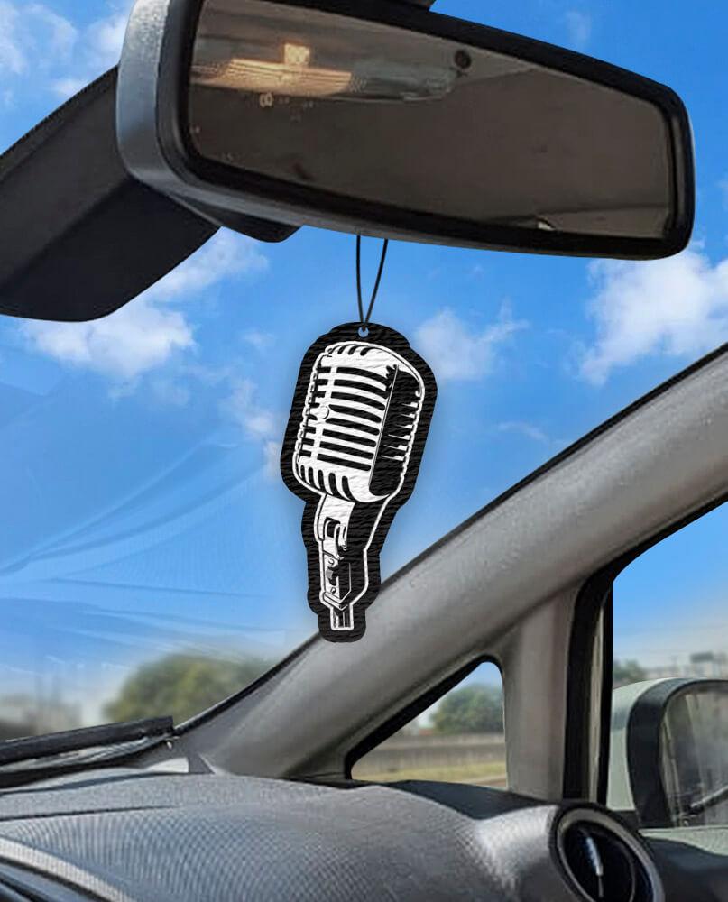Aromatizante personalizado para carro - Microfone  - Aromatizacar
