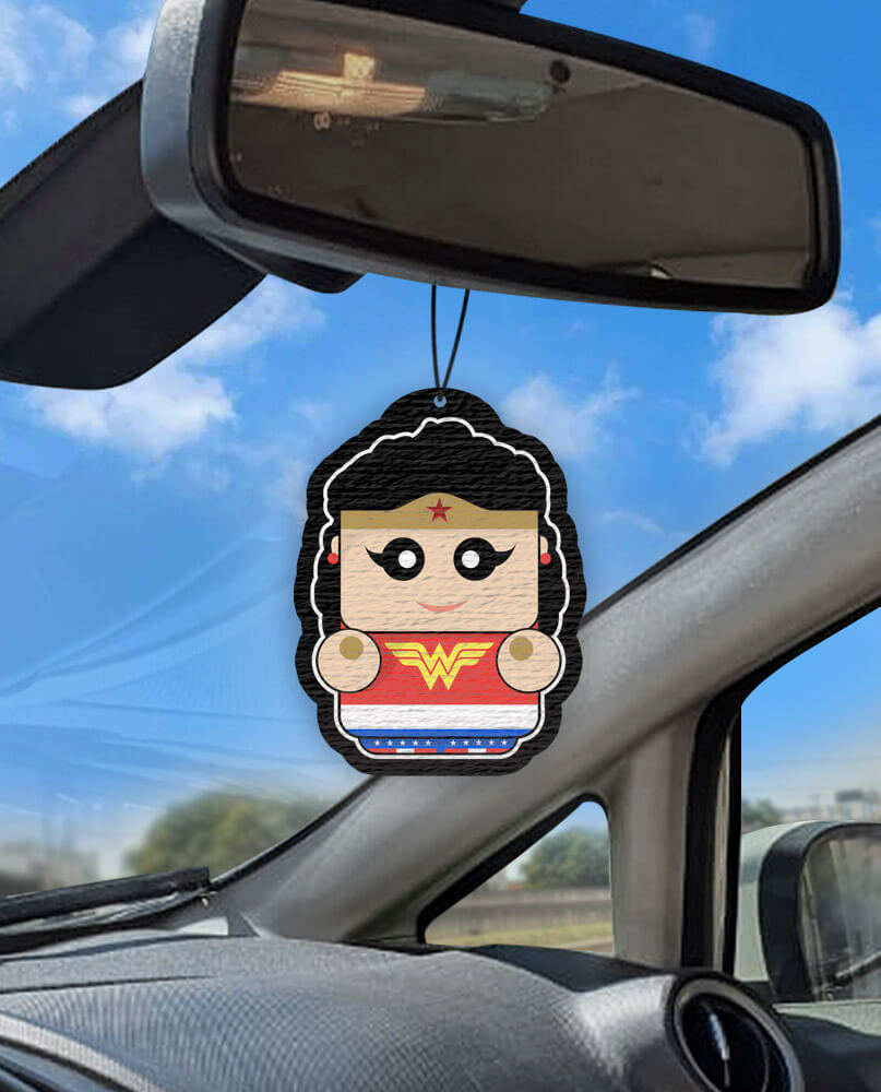 Aromatizante personalizado para carro - Mulher Maravilha Air Drop