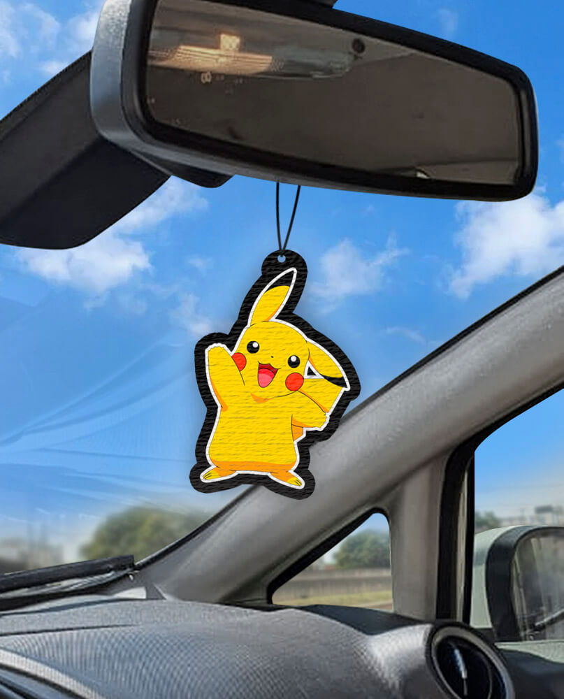 Aromatizante personalizado para carro - Pikachu - Pokémon  - Aromatizacar