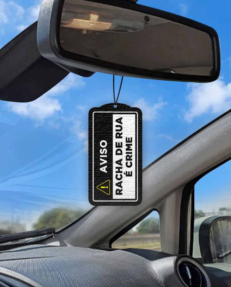 Aromatizante personalizado para carro - Racha de Rua é Crime