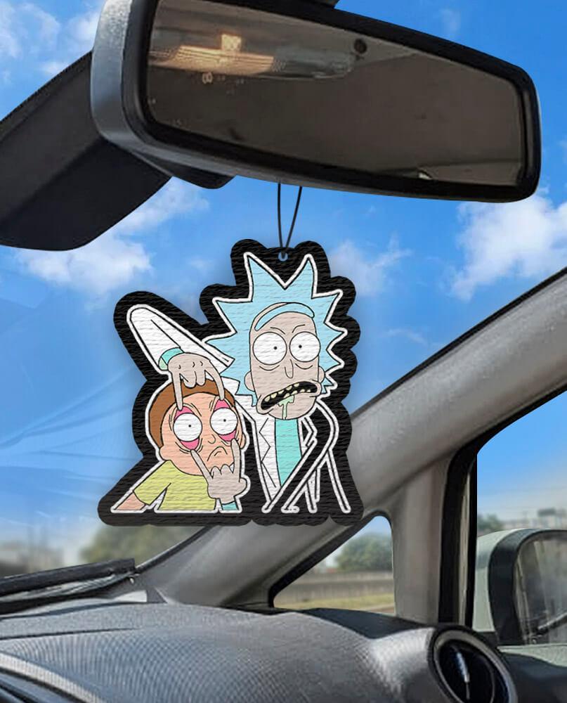 Aromatizante personalizado para carro - Rick And Morty