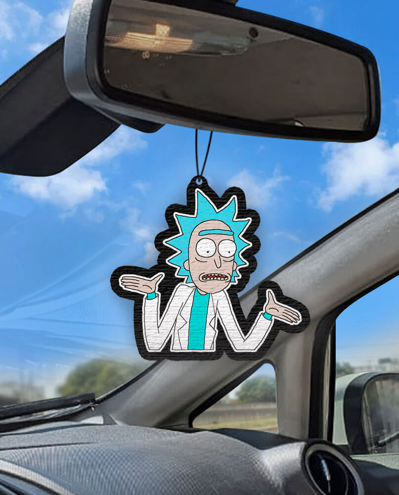 Aromatizante personalizado para carro - Rick (Rick And Morty)
