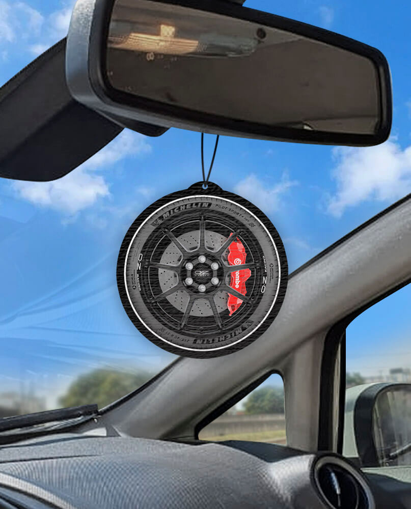 Aromatizante personalizado para carro - Roda O.Z + BREMBO  - Aromatizacar
