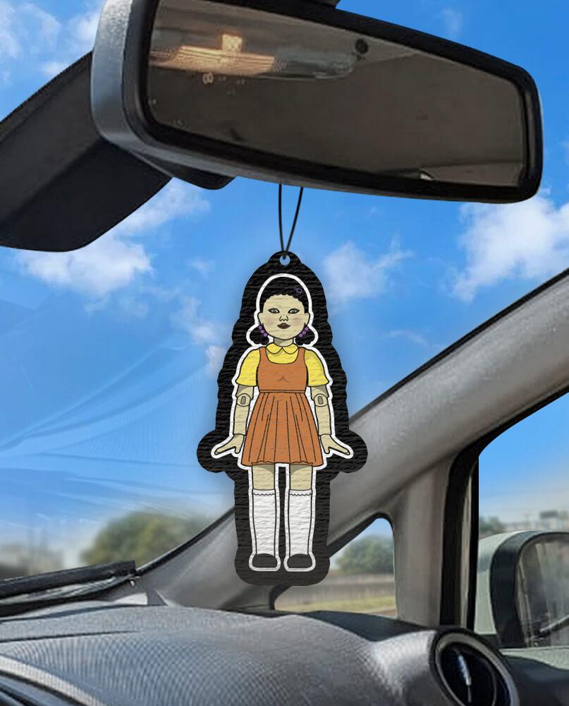 Aromatizante personalizado para carro -  ROUND 6 boneca batatinha frente e verso