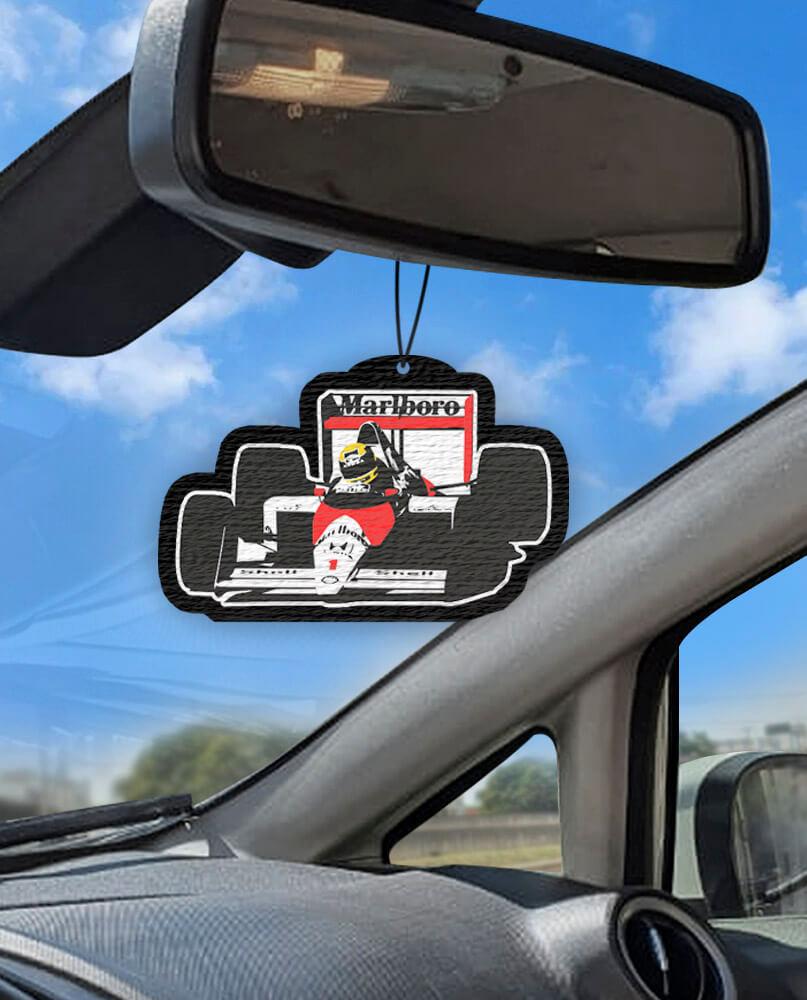 Aromatizante personalizado para carro - Senna  McLaren