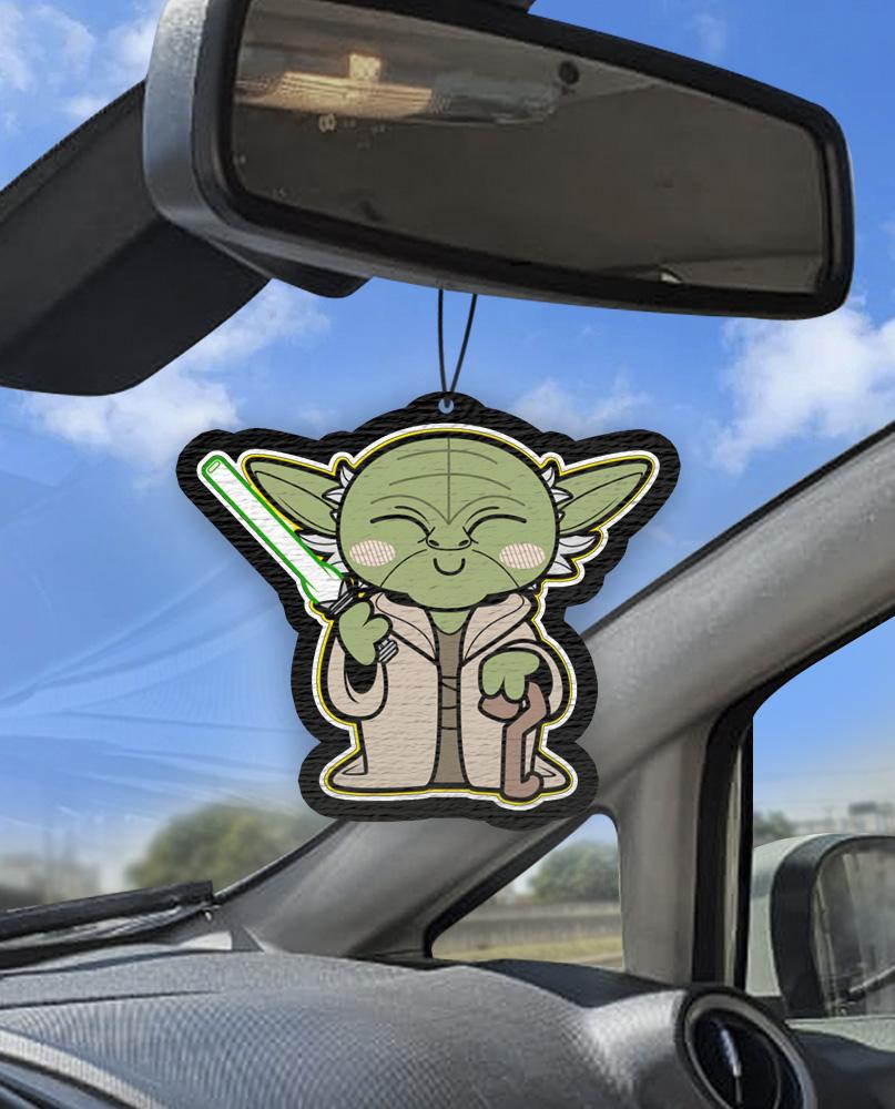 Aromatizante personalizado para carro -  Starwars Yoda