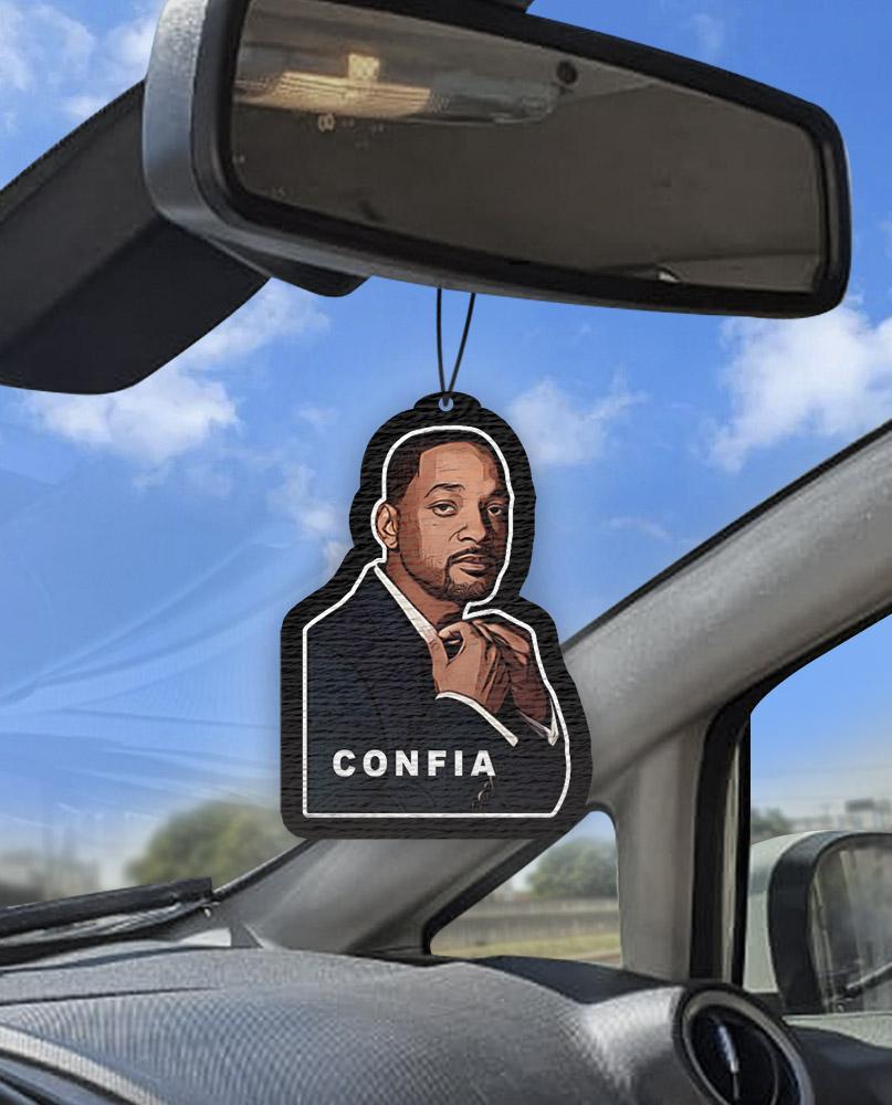 Aromatizante personalizado para carro - Will Smith Confia