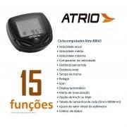 Ciclocomputador com fio Atrio Velocimetro Bike com 15 Funções Preto - BI043