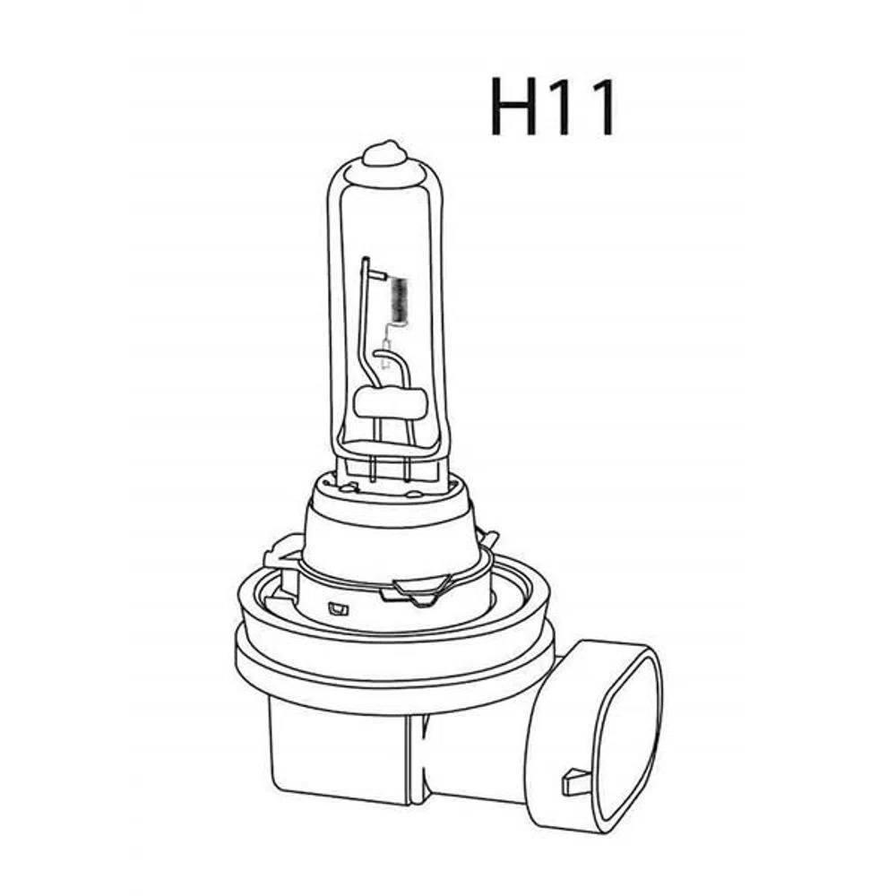 2 peça x Lâmpada Halógena Multilaser H11 3200K 70W 24V Caminhão - AU879