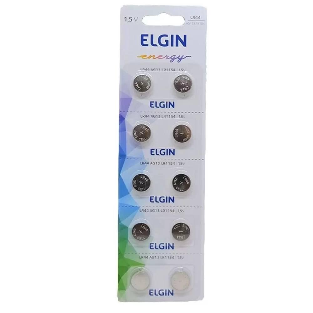 Bateria Alcalina Energy Lr44 1.5v Blister 10 Unidades Elgin