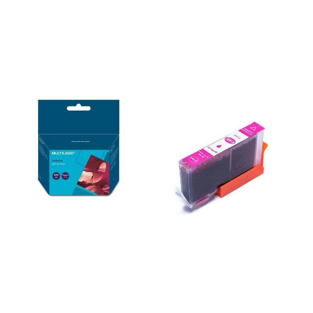 Cartucho 670xl magenta compativel - Ink Advantage 3525 4615 4625 5525 Multilaser CO670M