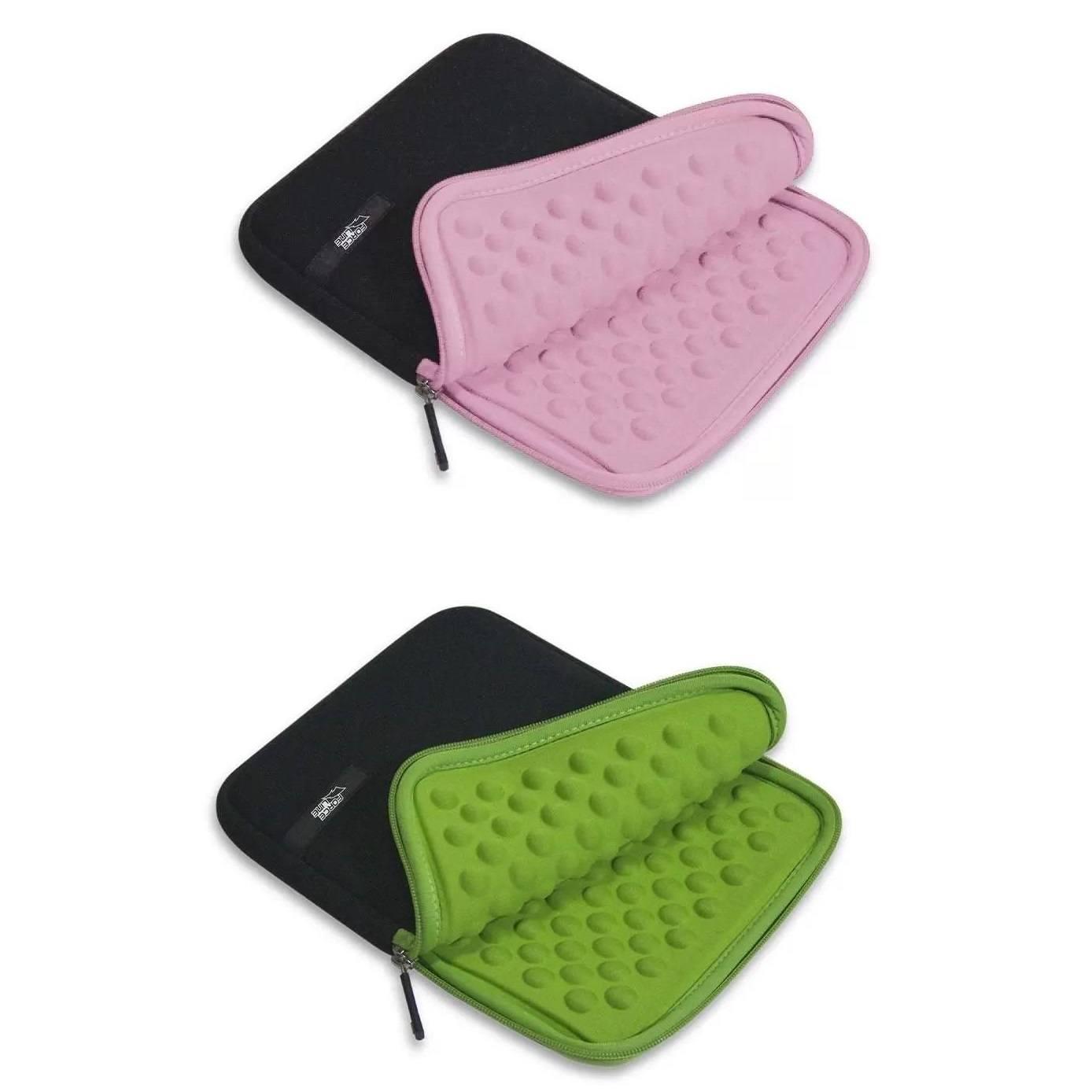 Case para tablet / iPad até 9,7 pol Preto/Rosa Preto/Verde - 27x22x3cm - Forceline
